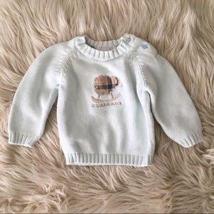 Burberry blue lamb sweater